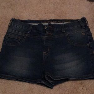 Justice High Waisted Jean Shorts Size Girls 18W